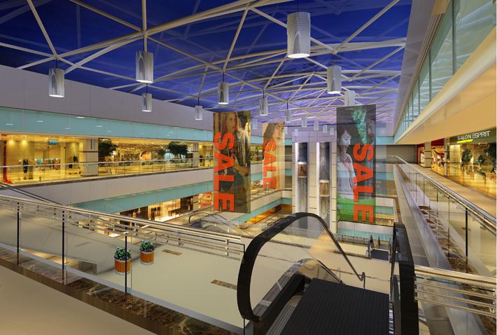 深圳建材商场设计 好百年商场中庭装修效果图
