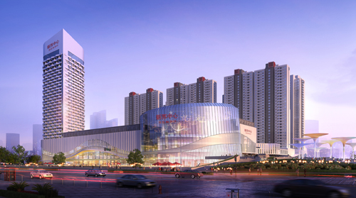 墙体建筑设计之邳州新苏中心商业绘制怎么抹灰图片